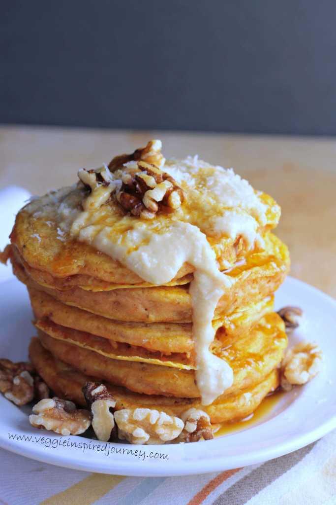 Vegan Carrot Cake Pancakes ~ Veggie Inspired