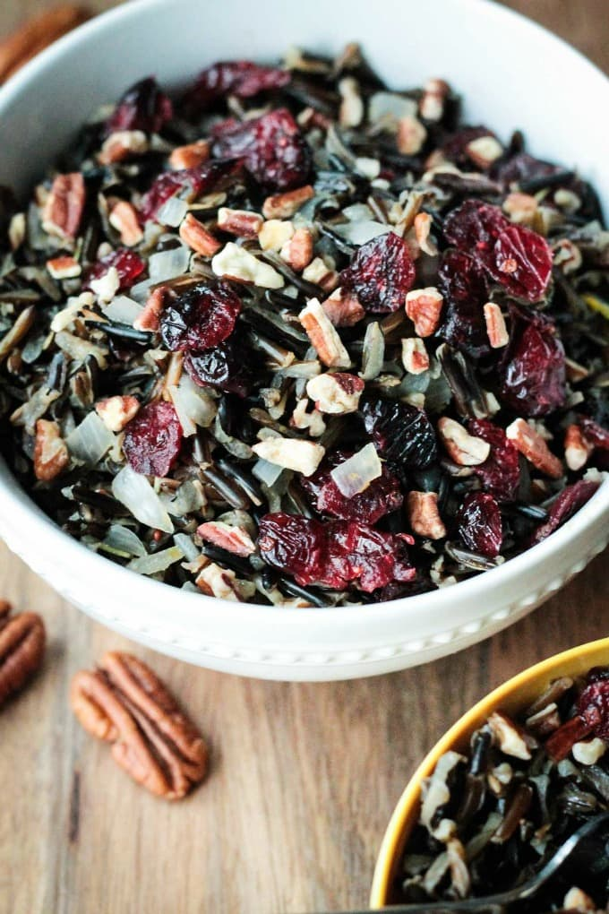 ... up, but not fill you out, try this Cranberry Pecan Wild Rice Salad
