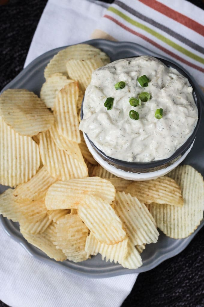 Vegan French Onion Dip with Dill