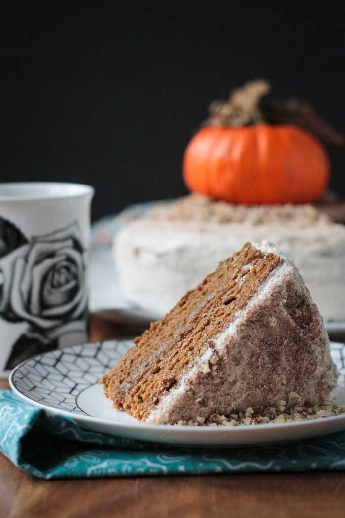 Chai Spiced Pumpkin Layer Cake