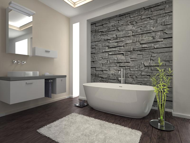 using grey cladding in the bathroom - Bathroom Tile Ideas South Africa