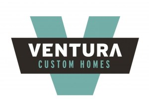 Ventura Custom Homes Logo surrounded  by white space