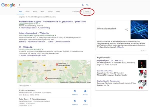 Recherchieren mit Google