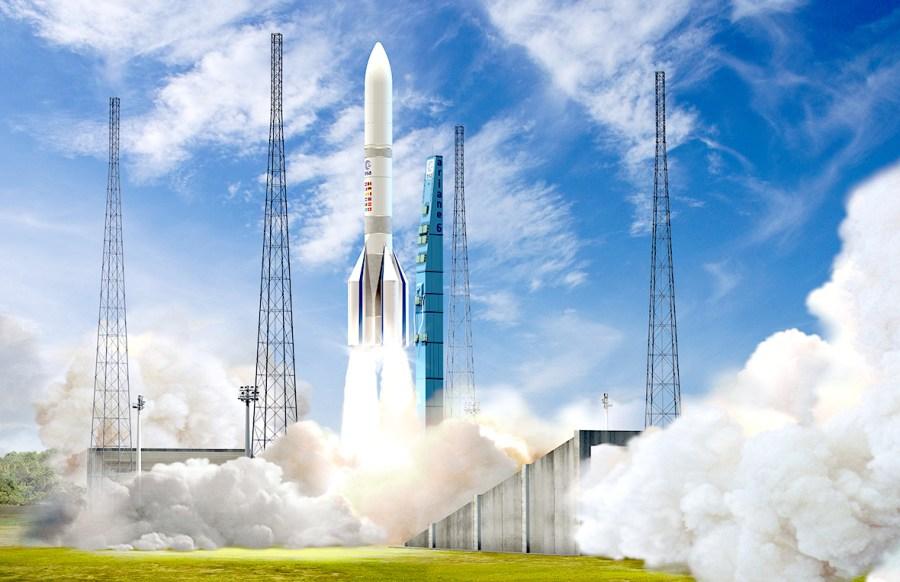 Ariane 6 devrait effectuer son premier vol en 2021, depuis la base de Kourou (Guyane).