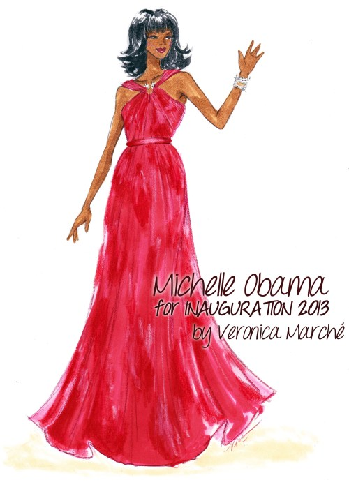 Michelle Obama in Jason Wu for Inauguration 2013
