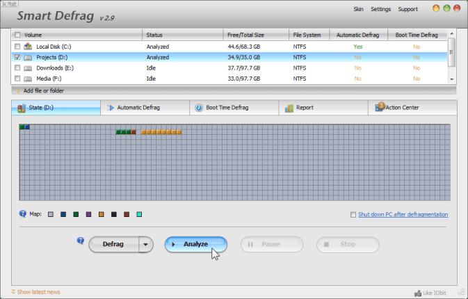 Smart Defrag 2 – Best Free Defragmenter for Windows 7