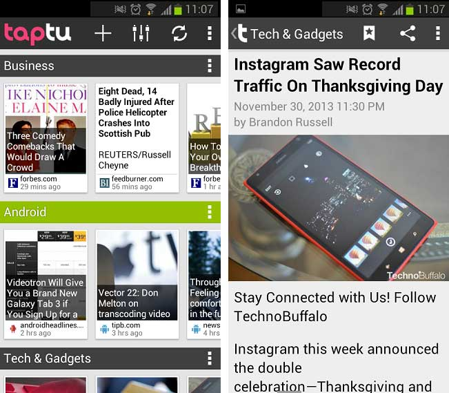 Taptu for Android