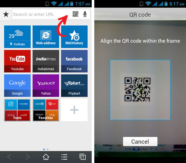 baidu browser qr code scanner