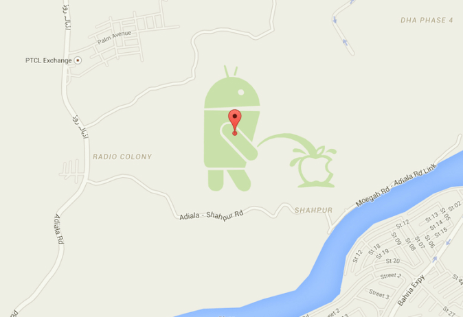 Android-Mascot-Peeing-on-Apple-Logo