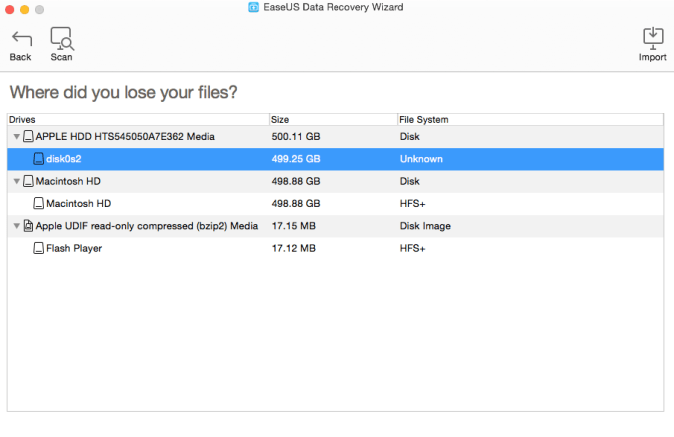 Recover lost files on Mac with EaseUS Data Recovery Wizard