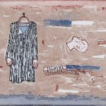 Arpita Singh,Palmyra-tailors & Drapers, Watercolour on paper, 11.5_ X 16_, 2015.Photo credit-Vadehra Art Gallery and Arpita Singh