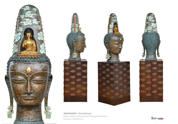 Five Boddhisattvas Amoghasiddhi