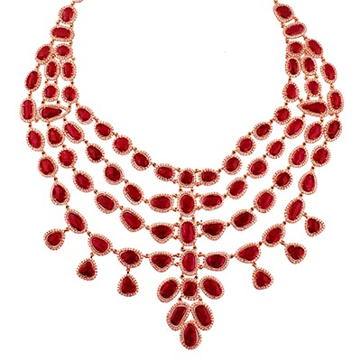 Gem Plaza necklace with rubies