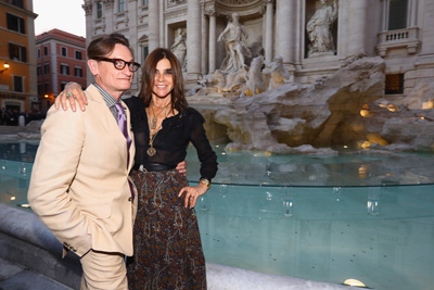 Hamish Bowles and Carine Roitfeld