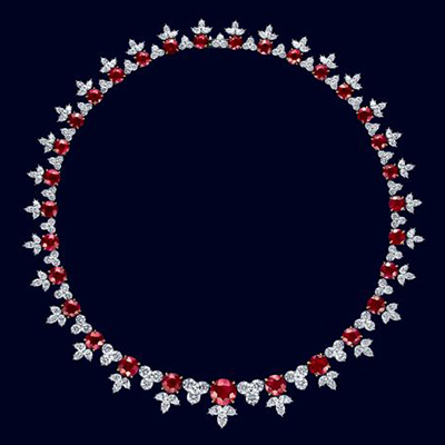 Harry Winston necklace with rubies and diamonds
