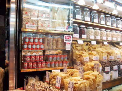 The dried seafood market
