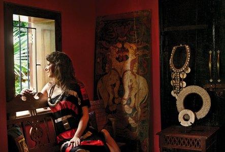 Malini Ramani in reflective mode at her mother Bina Ramani's home