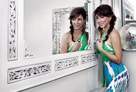 Malini Ramani in her fashion boutique