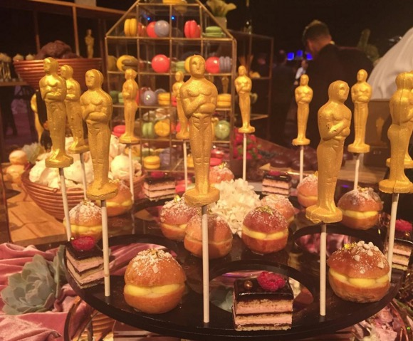Desserts created by Chef Wolfgang Puck that will be served at the Governors Ball