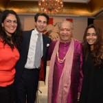 Sonal Singh, Amin Jaffer, Pt.Hariprasad Chaurasia and Deepanjana Klien at the Christie's cocktail reception in Mumbai