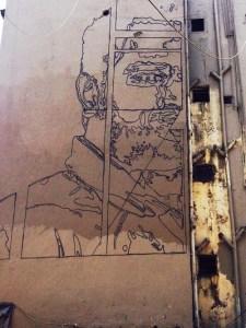 Street art mural in Dharavi