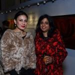 Fatima Karan, Priyanka Mathew at the Sotheby's cocktail in New Delhi