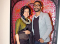 Sunil and Tanuja Padwal at Manu Parekh's art exhibition