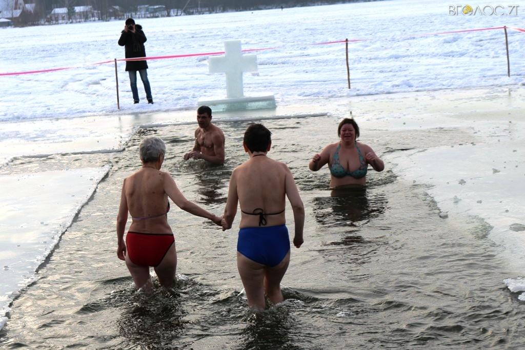 Крещение 2017. Как в Житомире купались в проруби
