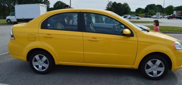 O discreto carro que alugamos na Carolina do Norte.