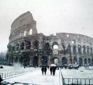 Il fascino di Roma in inverno