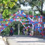 La decoracion de Navidad del Barrio Nuevo Puerto Rico en Moca