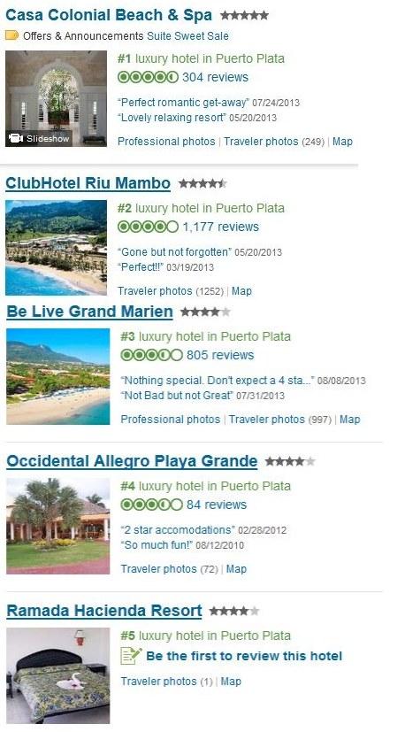 Los mejores hoteles de puerto plata