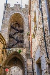 Interior visible de la torre de la Muralla