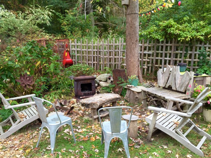 I can imagine hanging out here with friends in Michael's backyard in Rhode Island