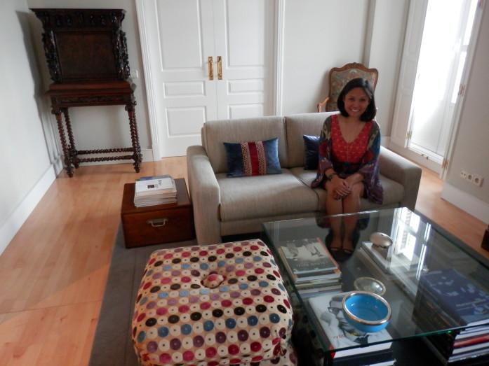 The lovely living room in Madrid