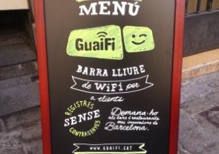Guaifi: red gratuita de WiFi para usuarios de restaurantes y comercios en Barcelona