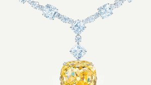 yellow diamond collier