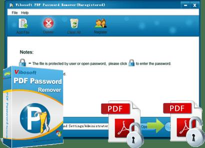 Vibosoft PDF password remover banner