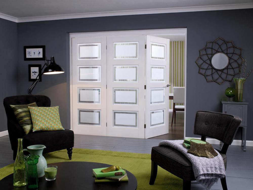 Choosing an interior bifold door system     Vibrant Doors Blog White primed contemporary 4 lite range