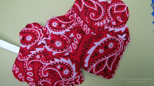 heart shaped bandanna sachets