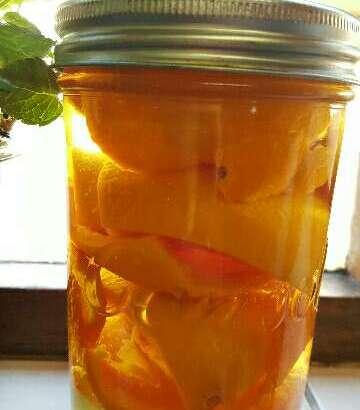 Naartjie and grapefruit peels soaked in vinegar