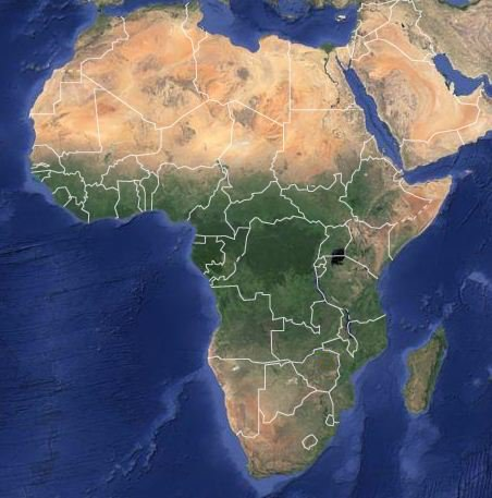 Map of Africa Satellite map showing Africa s vegetation density