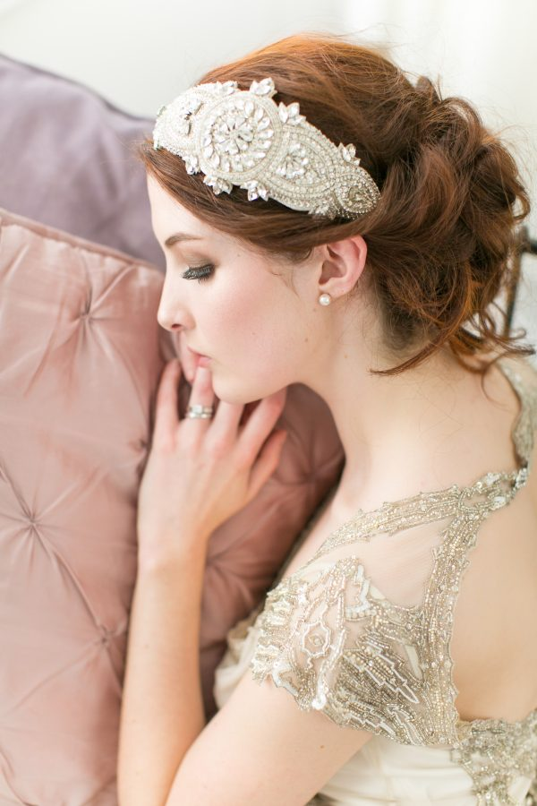 CELEBRATION RHINESTONE BRIDAL CAP NO.8-1
