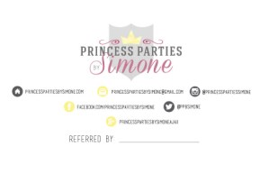 Princess Parties by Simone Postcard & Logo