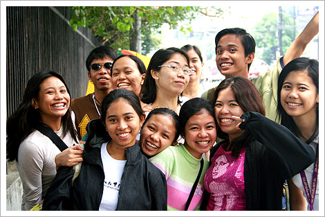 Cinemalaya 2006 at the Cultural Center of the Philippines with college friends