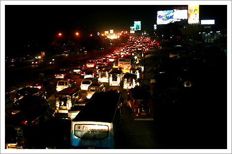 traffic at Commonwealth Avenue