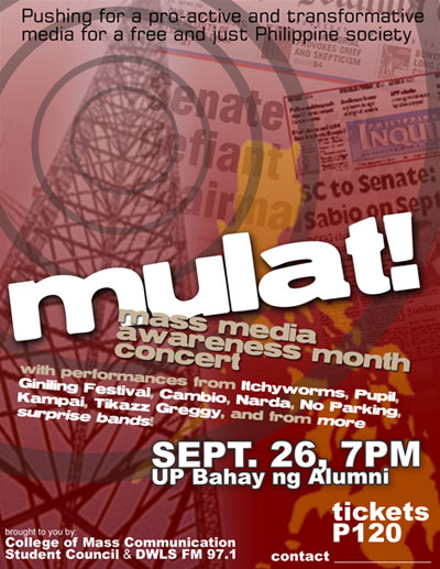MULAT! The Mass Media Awareness Month Concert