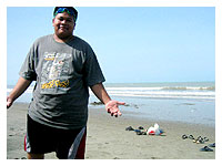 Rene at the beach
