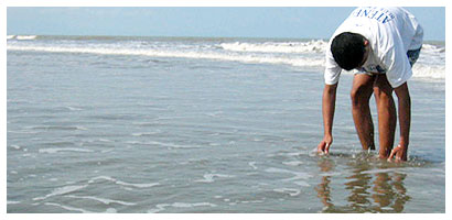 Joseph at the beach