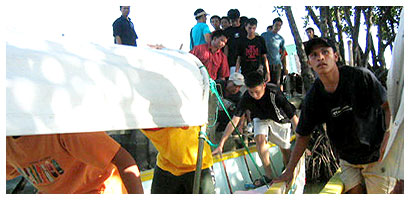 classmates on the banca